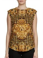 Balmain Printed Wool Top