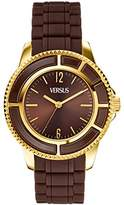 Versace Versus Women's Quartz Watch with Brown Dial Analogue Display and Brown Pu Strap SH707 0013