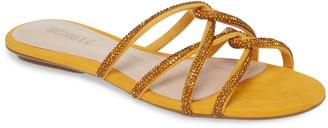 Schutz Uzia Crystal Embellished Slide Sandal