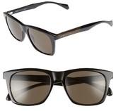 BOSS Men's 53Mm Sunglasses - Black/ Brown