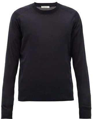 The Row Scott Silk-blend Sweater - Mens - Navy