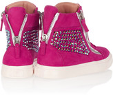 Giuseppe Zanotti Crystal-embellished suede sneakers