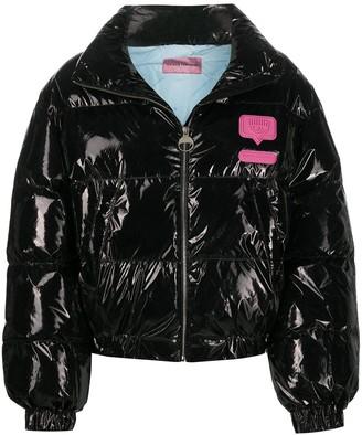 Chiara Ferragni Logomania padded bomber jacket