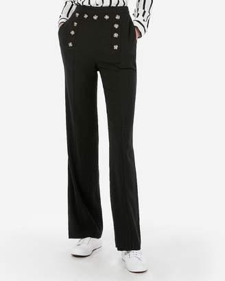 Express Super High Waisted Button Front Wide Leg Pant