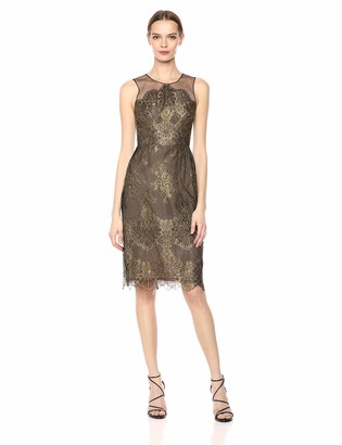 BCBGMAXAZRIA Azria Women's Metallic Lace Sheath Dress