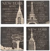 Boston Warehouse Sandstone Travel Coasters (Set of 4)