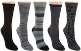 Cuddl Duds As Is Cuddle Duds Plushfill Mid-Weight Boot Socks Set of 5
