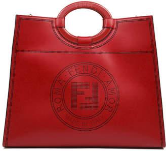 Fendi Strawberry Runaway Leather Shopper Bag