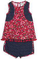 Rare Editions Paisley Shorts Set - Toddler Girls 2t-4t