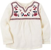Carter's Embroidered Babydoll Top (Toddler/Kid) - Ivory - 4