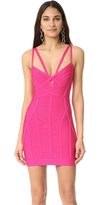 Herve Leger Nuria Sleeveless Cocktail Dress