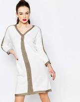 Love Moschino Metallic Trim Sweater Dress