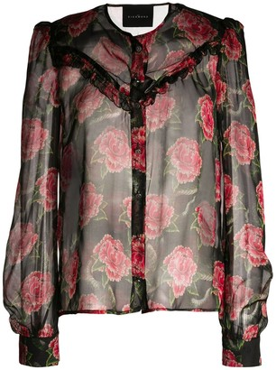 John Richmond Floral Print Blouse