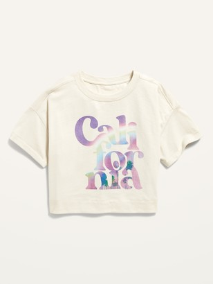 Old Navy Cropped Vintage Graphic Tee for Girls