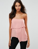 Asos Asymmetric Multi Layer Cami Top