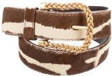 Valentino Ponyhair & Leather Belt