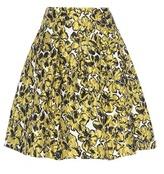 Oscar de la Renta Printed Jacquard Skirt