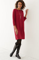 J. Jill Ponte Knit Boat-Neck Dress