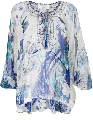 Camilla White Moon printed blouse