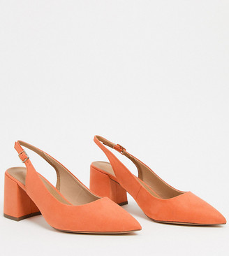 Wide Fitting Orange Shoes   Shop the