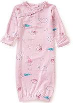 Angel Dear Baby Girls Newborn-3 Months Mermaid-Print Ruffle-Neckline Gown