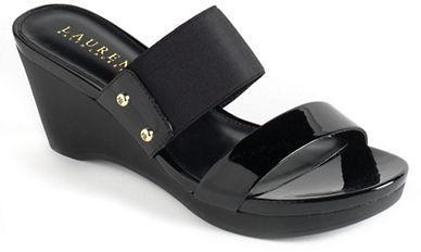 Lauren Ralph Lauren Rhianna Leather Platform Wedge Sandals