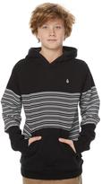 Volcom Boys Threezy Pullover Hood Black