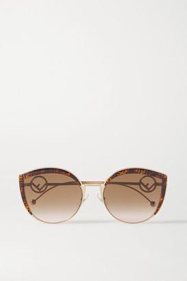 Fendi Cat-eye Tortoiseshell Acetate, Enamel And Gold-tone Sunglasses