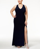 Xscape Evenings Plus Size Illusion Beaded-Back Gown