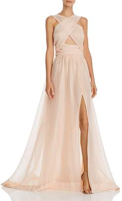 Keepsake In Knots Crossover Keyhole Gown
