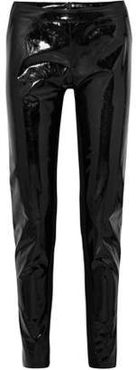 Gareth Pugh Stretch Knit-paneled Vinyl Leggings