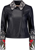 Tory Burch Embroidered leather jacket