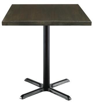 "Kfi Studios Urban Loft Square Cafe Table KFI Studios Top Finish: Espresso Vintage, Size: 29"" H x 36"" W x 36"" D"