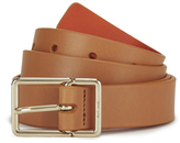 Paul Smith Women's Leather Contrast Belt Orange