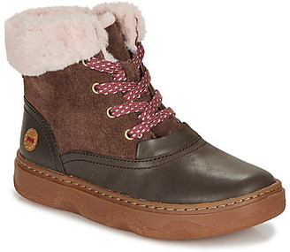 Camper Kido Kids girls's Mid Boots in Brown