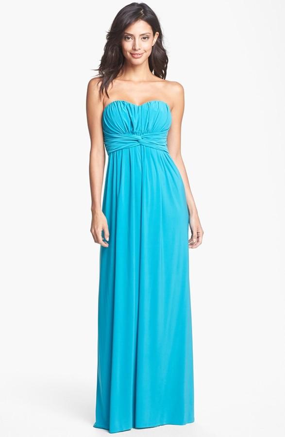 Jessica Simpson Front Twist Jersey Maxi Dress