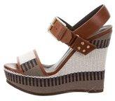 Belstaff Woven Platform Wedge Sandals