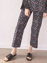 P & Lot Floral Pattern Piping Pants