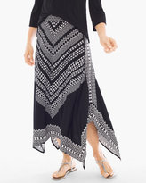 Chico's Bi-Color Geometric Maxi Skirt