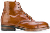Officine Creative Service boots - men - Buffalo Leather/Calf Leather/Leather/rubber - 41
