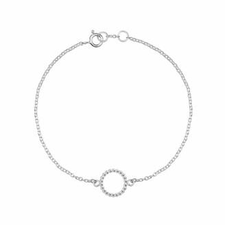 Myia Bonner Sphere Circle Bracelet Silver
