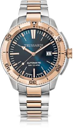 Trussardi Sportive Stainless Steel PVD Plated Men's Automatic Watch