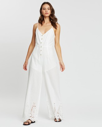 Atmos & Here Lilly Broderie Hem Jumpsuit