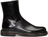 Ann Demeulemeester Black Horseskin Zip-up Boots