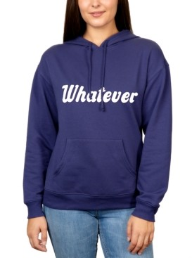 Rebellious One Juniors' Whatever Graphic Pullover Hoodie