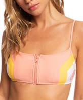 Roxy Women's Bikini Tops Terra - Terra Cotta Stripe Zip-Up Bikini Top - Women