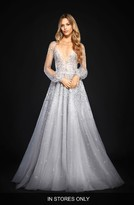 Women's Hayley Paige Lumi Embellished Long Sleeve Tulle Ballgown