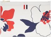 Thom Browne Tricolor Small Floral Outline Tablet Holder