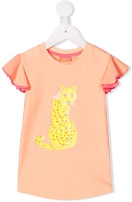 Sunuva leopard logo print T-shirt