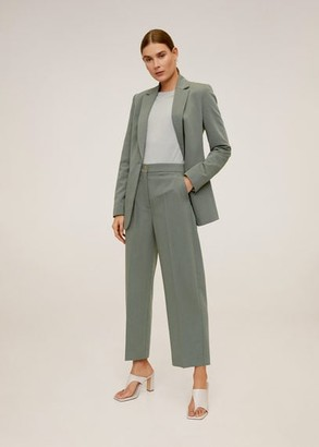 MANGO Suit cropped trousers black - 1 - Women